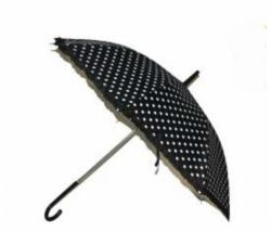 Schirm schwarz mit weissen Punkte