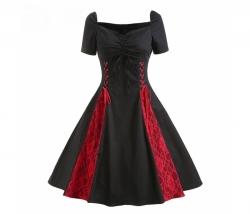 Kleid schwarz rot Gr. M