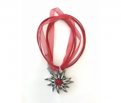 Edelweiss Halskette rot