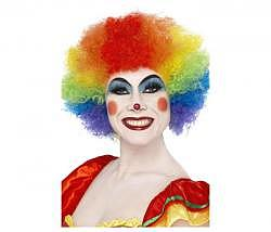 Clown Perücke Regenbogen-Farben