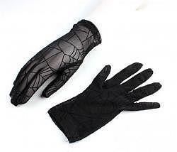 Handschuhe Spinnennetz schwarz