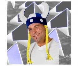 Mütze Wikinger mit Zöpfe