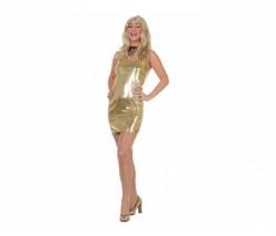 Kleid Pailletten gold Gr. 42
