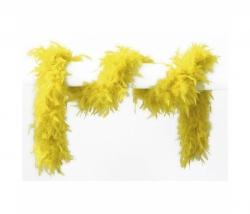 Federboa 180 cm gelb