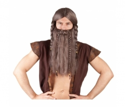 Perücke Viking Harald mit Bart