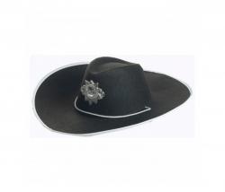 Cowboyhut schwarz breite Krempe