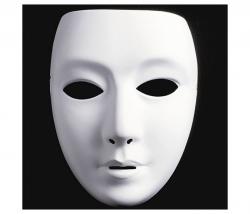 Maske zum bemalen Frau