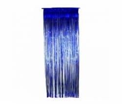 Fransen Vorhang blau