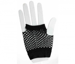 Netzhandschuhe kurz schwarz