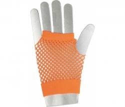 Netzhandschuhe kurz neon-orange