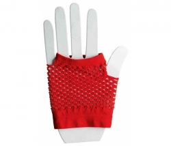 Netzhandschuhe kurz rot
