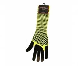 Netzhandschuhe lang neon-gelb