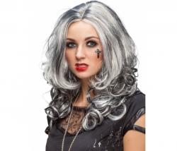Perücke Gothic grau-schwarz