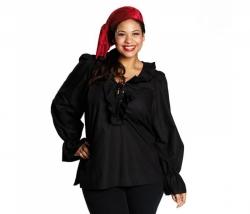 Piraten Bluse schwarz Gr. 44
