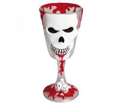 Weinglas Horror Totenkopf