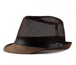 Luftiger Hut braun