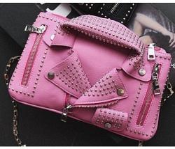 Jacket-Handtasche pink