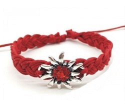 Edelweiss Armband rot