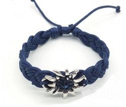 Edelweiss Armband dunkelblau