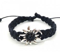 Edelweiss Armband schwarz