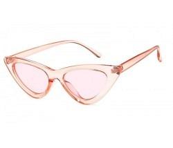 Brille Katzenauge pink clear