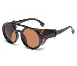 Brille mit Seitenteil braun