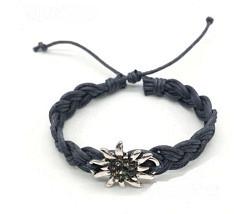 Edelweiss Armband grau