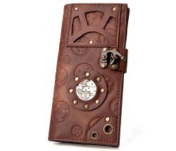 Steampunk Wallet braun