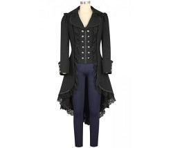 Mantel mit Spitzen schwarz Gr. XXL