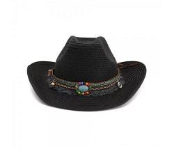 Beach Cowboy Hut schwarz