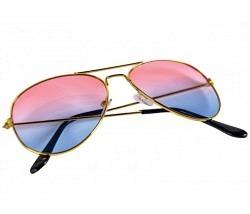 Fliegerbrille getönt pink-blau