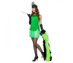 Charleston Kleid grün Gr. 38