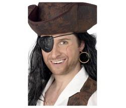 Augenklappe Pirat mit Ohrring