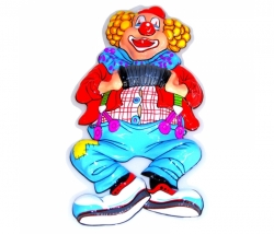 Dekomaske Clown Handorgel