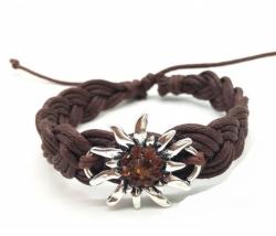 Edelweiss Armband braun