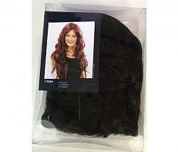 Perücke lang Haar schwarz