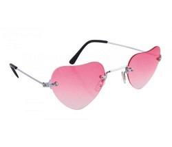 Brille Herz rosa