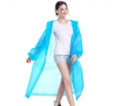 Regenpellerine blau