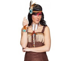 Indianer Squaw Schmuck Set