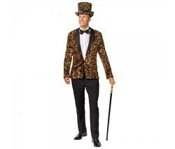 Jacket mit Pailetten gold Gr. 50